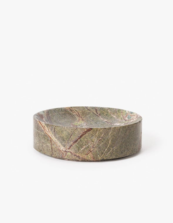 Large Grove Marble Dish - Forest Green