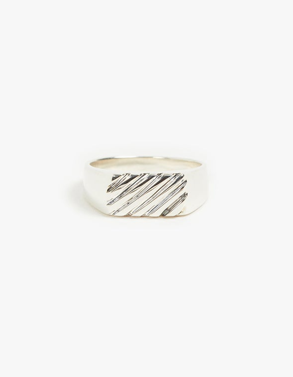 Grill Signet Ring - Sterling Silver