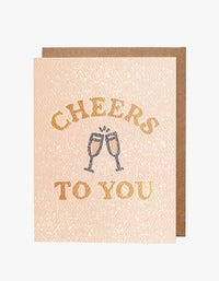 Cheers to You Card - Pink