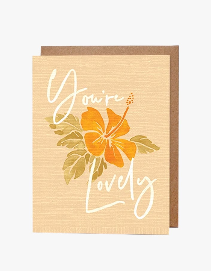 You're Lovely Card - Yellow