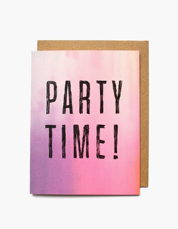 Party Time Card - Pink