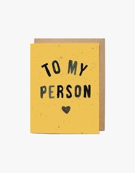 To My Person Card - Yellow