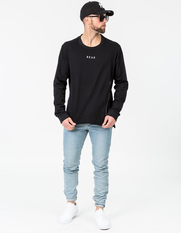 Riot Zip Sweater - Black