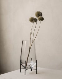 Echasse Vase Small - Clear/Black