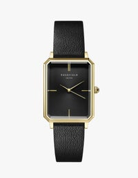 The Elles Watch - Gold/Black Leather