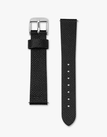 The Upper East Side Watch - Silver/Black Leather