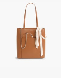 The Madeline Tote - Tan/Light Gold