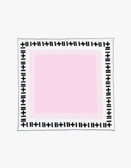 The Baby Blondeau Silk Scarf - Rose
