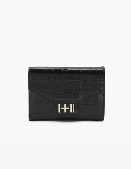 The Helena Wallet - Black/Light Gold