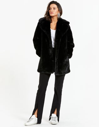 Minimalist Faux Fur Jacket