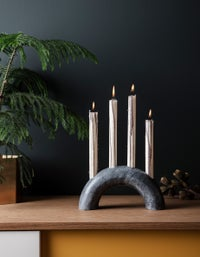 Bow Candle Holder - Black