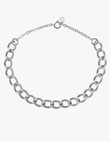Royal Chain Necklace - Sterling Silver Plated