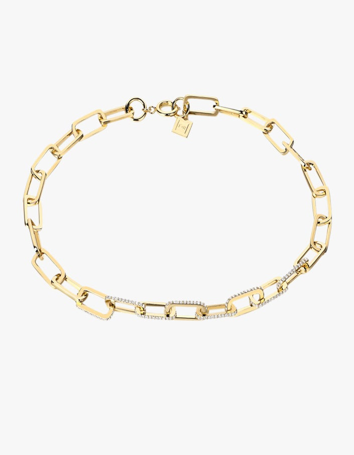 Dylan Necklace - White Topaz/18K Gold Plated