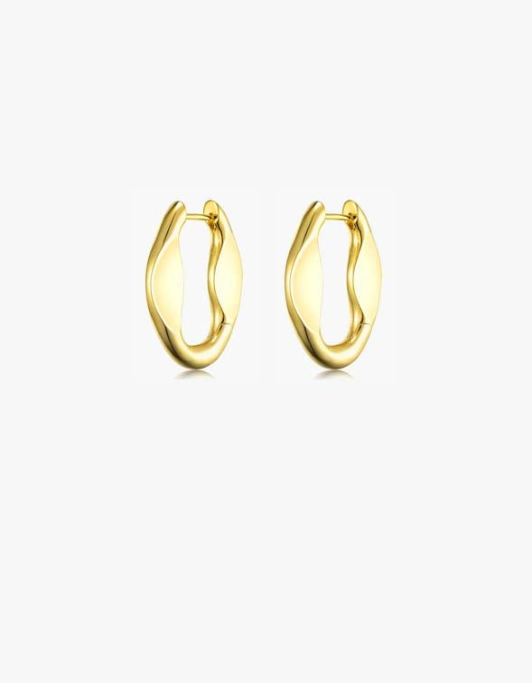 Synth Earrings Large - 18K Gold Plated
