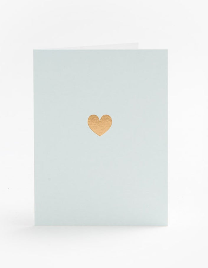 Gold Heart Card - Mint