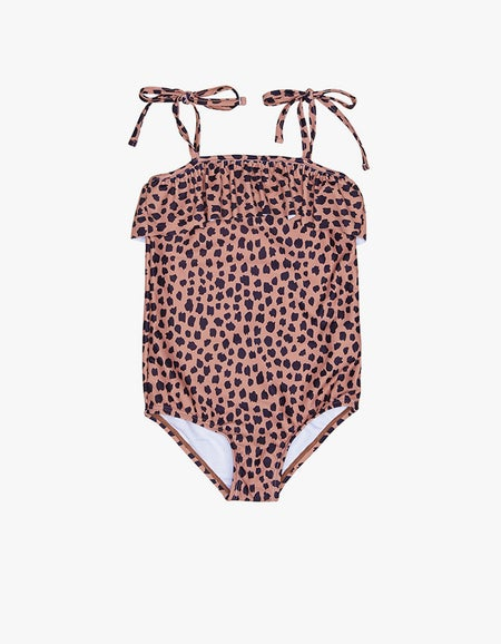 Leopard Swimsuit - Terracotta