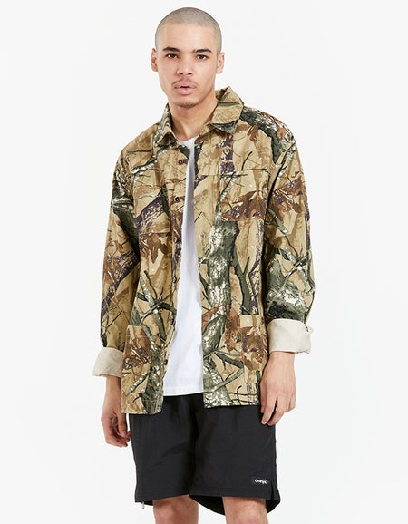 Cant See Me Shacket - Camo
