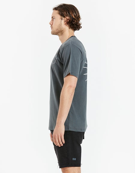 Just Another Fisherman x Superette JAF Circle Tee - Aged Black