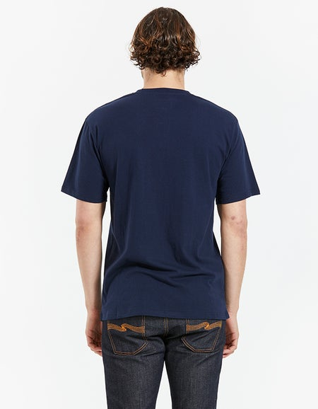 Just Another Fisherman x Superette Embroidered Fly Tee - Navy