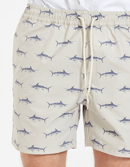 Just Another Fisherman x Superette Bluewater Critter Shorts - Tan/Navy