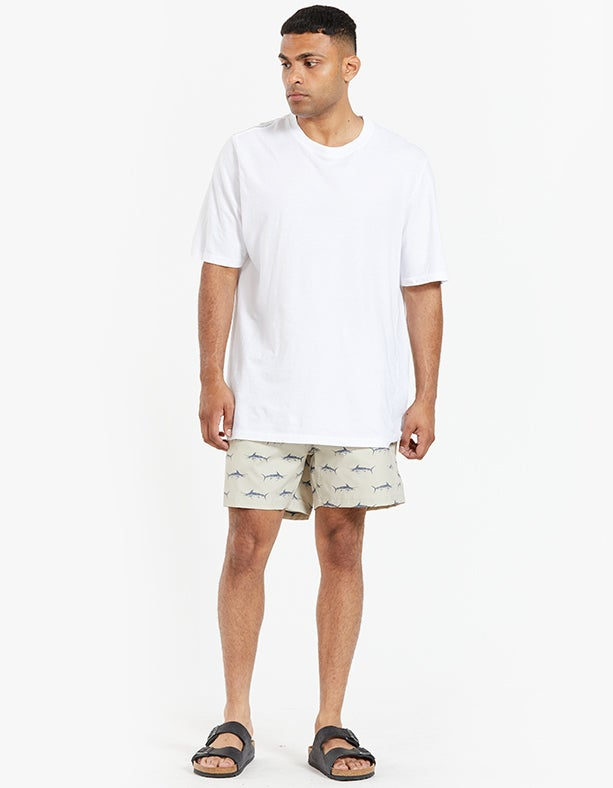 Just Another Fisherman x Superette Bluewater Critter Shorts - Dark Tan/Navy