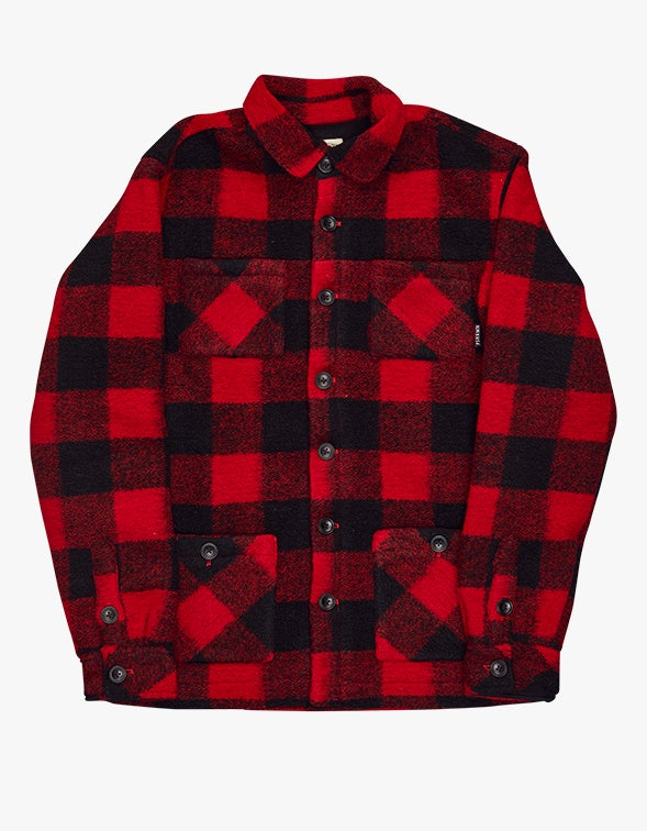 Wool Haven Jacket - Red/Black Check