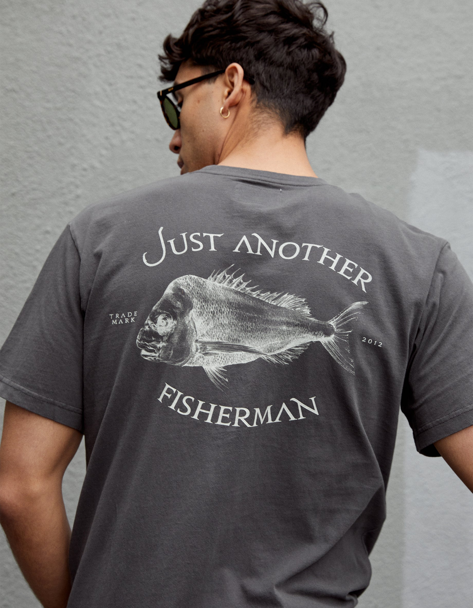 Just Another Fisherman X Superette Snapper Logo Tee - Aged Black