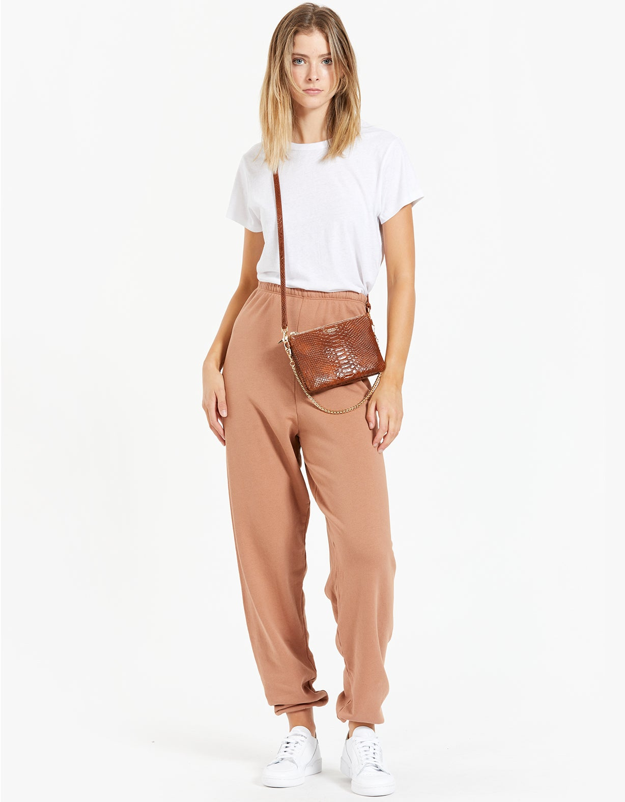 Oversized Jogger - Terracotta French Terry
