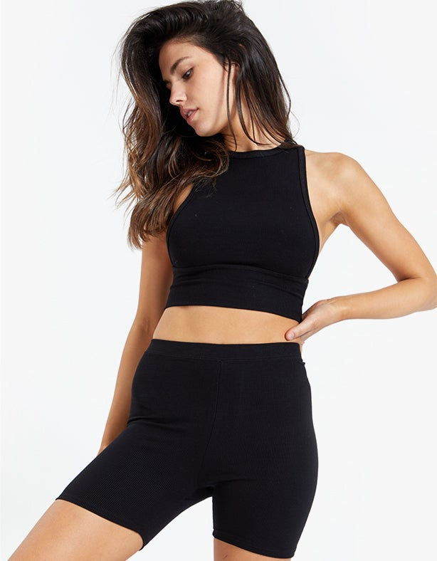 Mid Length Short - Black