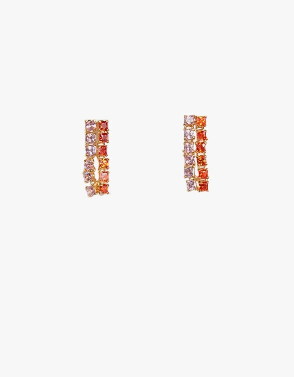 Peach Earrings - 14CT Gold Plated