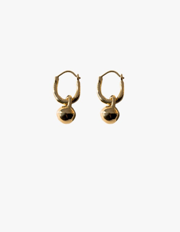 Ripple Earrings - 18CT Gold Plated