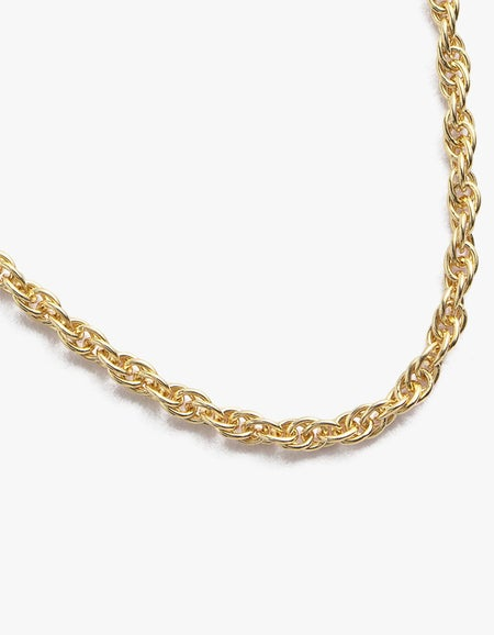 Rope Choker - Gold Plated