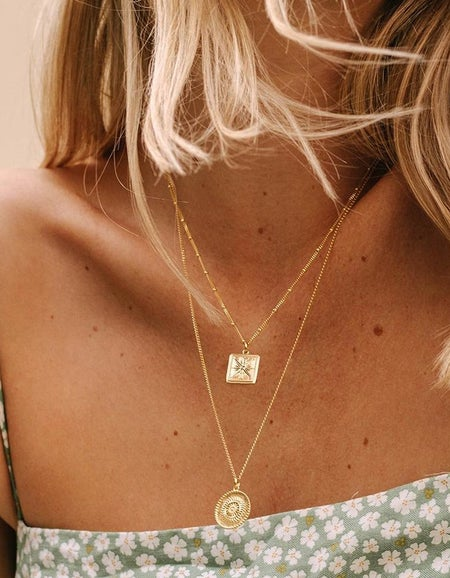 True North Coin Necklace - 18K Gold Plated