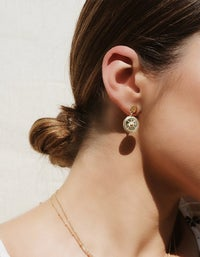 True North Coin Earrings - 18K Gold Plated