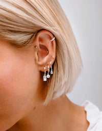 Guiding Star Hoops - Gold Plated