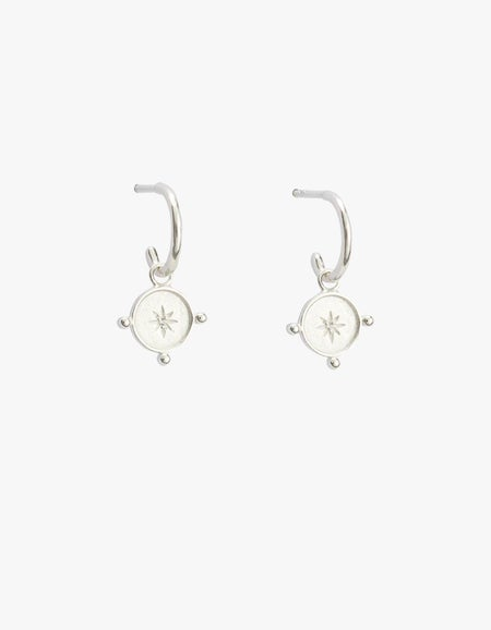 Voyager Coin Hoops - Sterling Silver