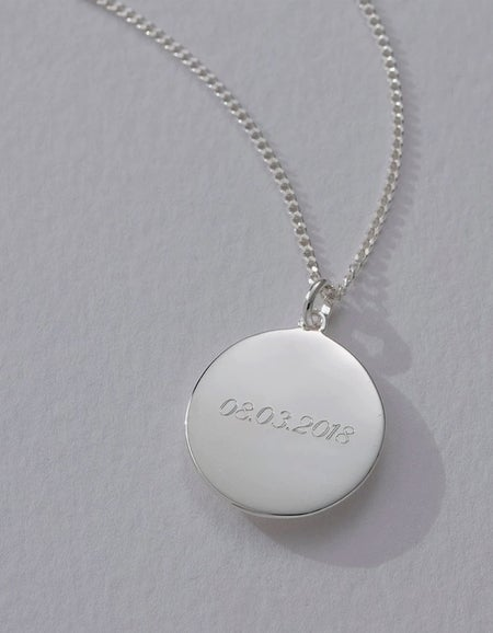 Engravable Disc Necklace - Gold Plated