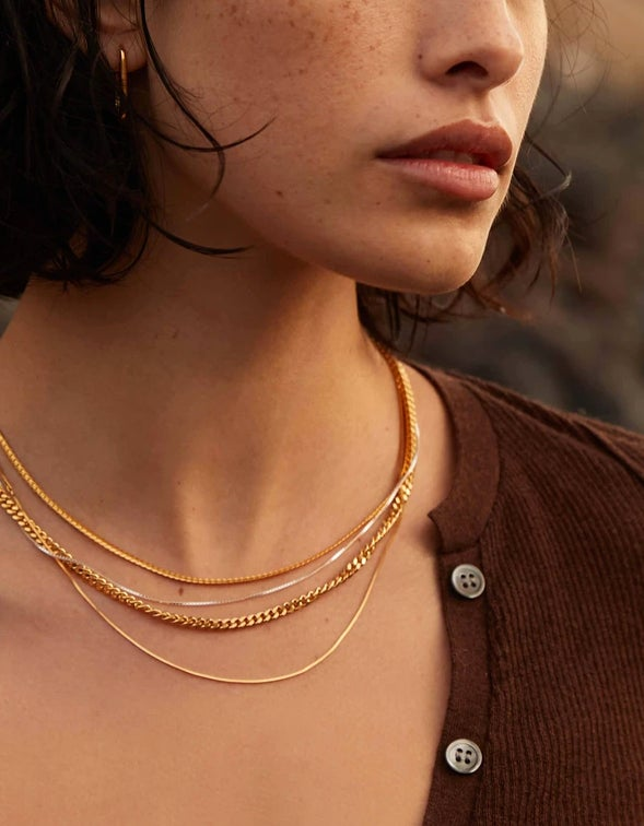 Glow Chain Necklace - 18K Gold Plated