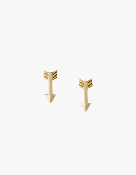 Arrow Studs - Gold Plated