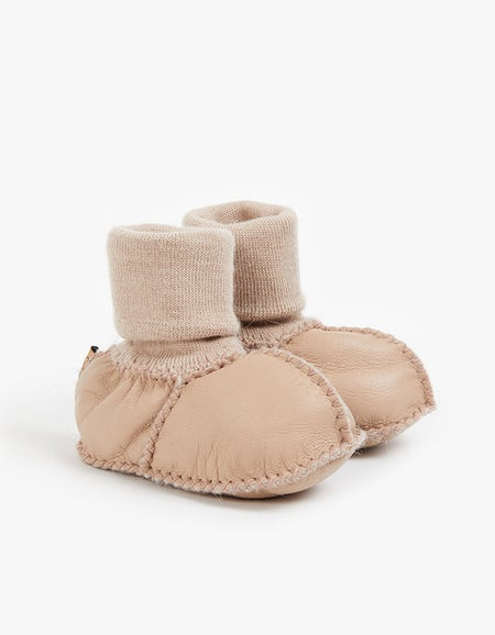 Baby Booties - Natural Almond