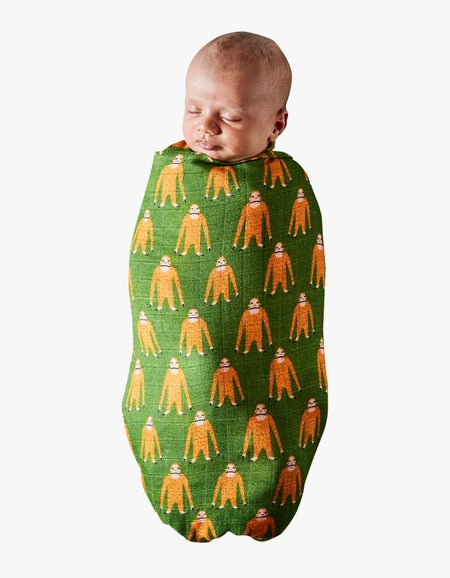Bamboo Baby Swaddle - Save The Orangutans