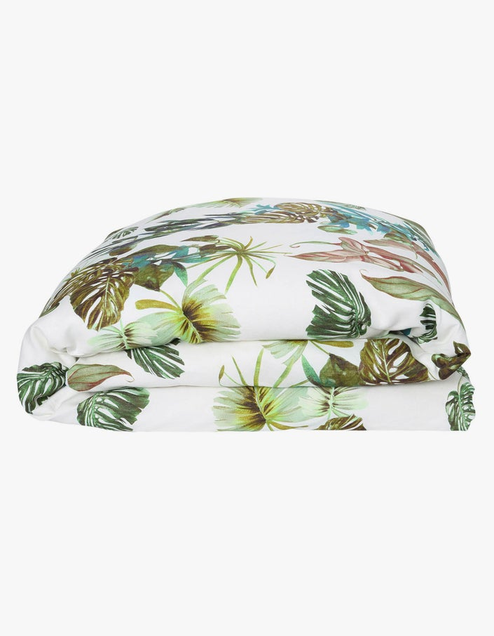 Linen Quilt Cover King - Foliage