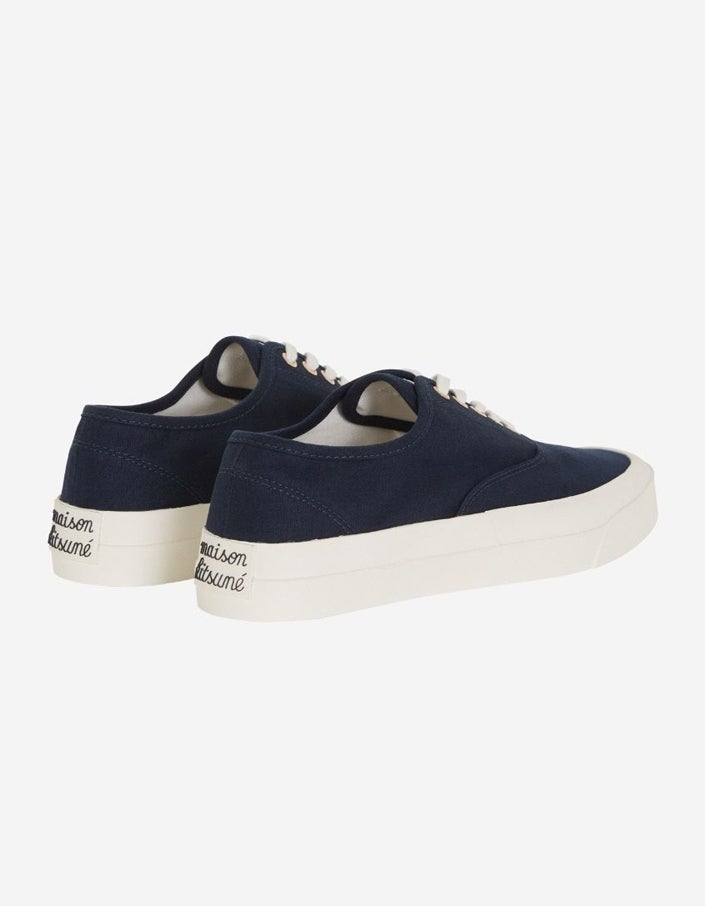 Canvas Laced Sneaker - Navy