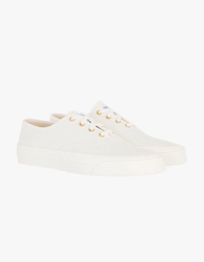 Canvas Laced Sneaker - White