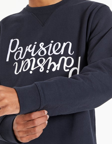 Parisien Mirror Regular Sweatshirt - Dark Navy