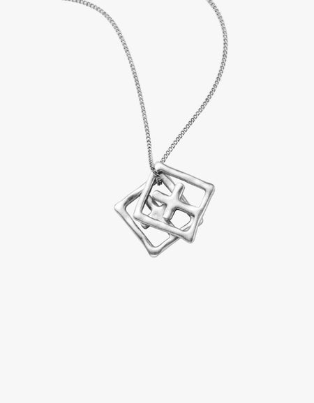 Dripps Box Cross Necklace - Sterling Silver