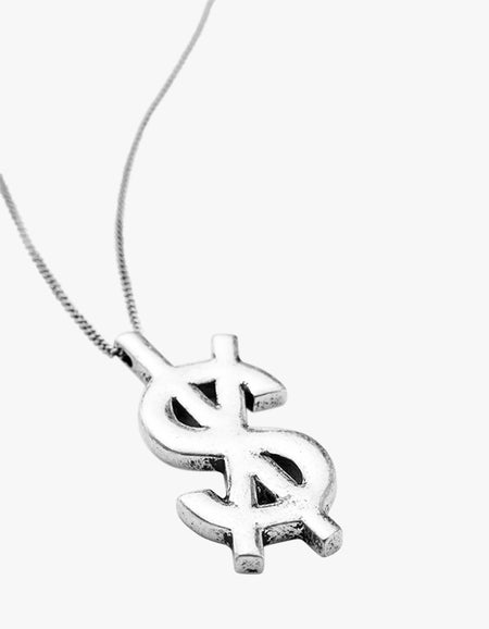 Dripps Cross Dollar Necklace - Sterling Silver