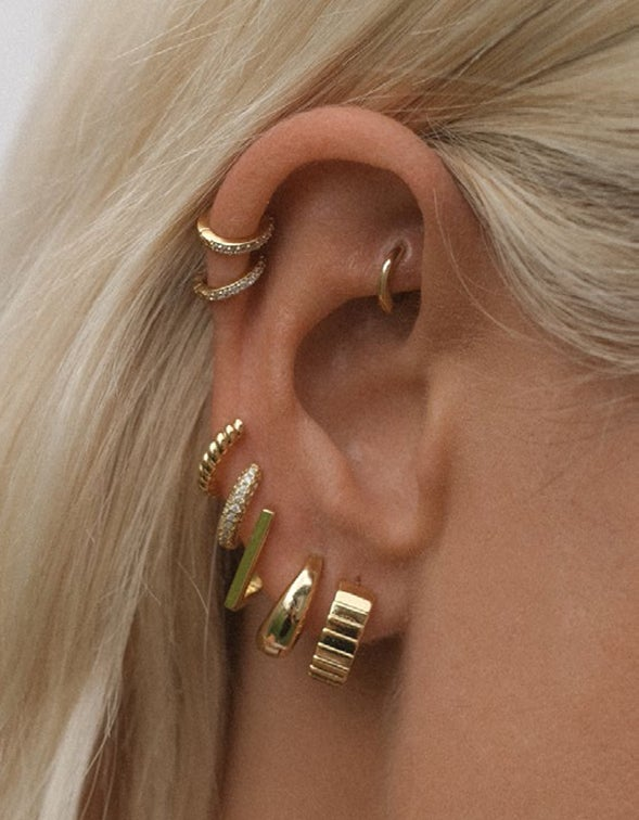 Charlotte Hoops - Gold Plated