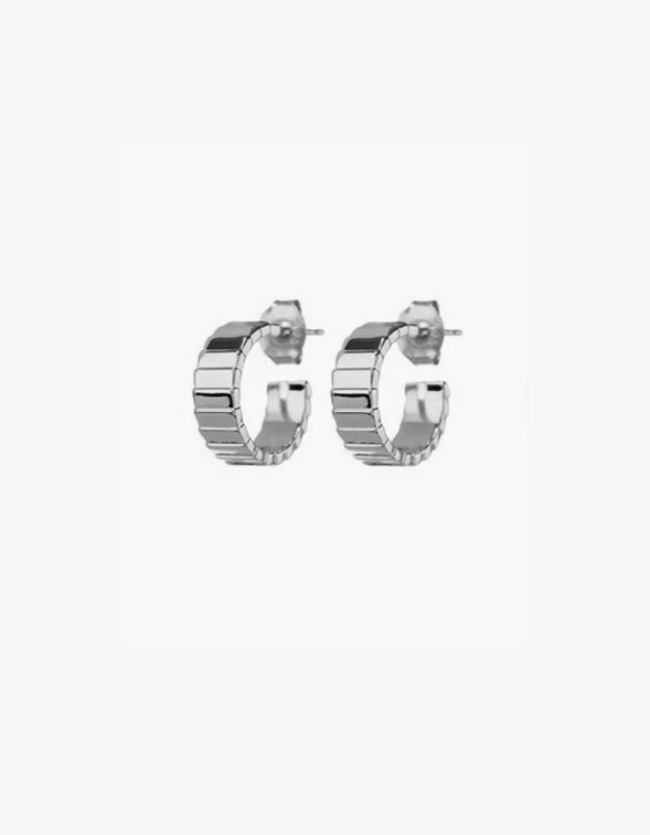 Charlotte Hoops - Silver Plated