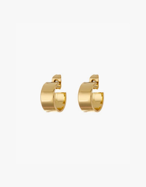 Gaia Hoops - Gold Plated